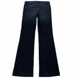 7 For All Mankind Dojo 27X32.5 Flare Dark Jeans